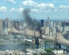 Пожар на мосту в Нью-Йорке