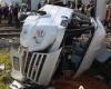 Столкновение автобуса с поездом в Турции