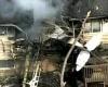 В США на жилой дом упал самолет