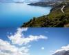 Массивный оползень феноменально изменил цвет озера