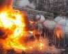 Взрыв на заводе Mitsubishi