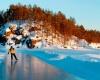 Живописные места Финляндии приглашают туристов для катания на коньках